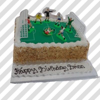 Soccer Pitch Cake Thunders Bakery