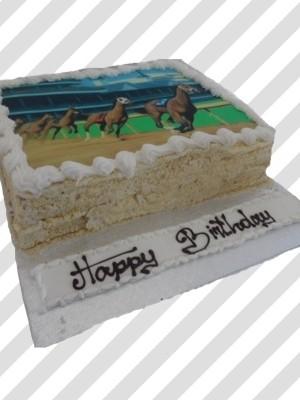 Horse Racing Track Cake