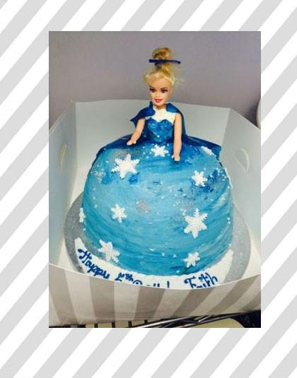 Frozen  Princess Doll Cake Thunders Bakery