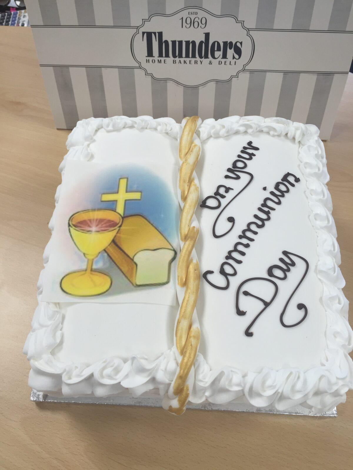 Communion Book Cake Finish 1