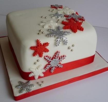 Thunders snowflake christmas cake