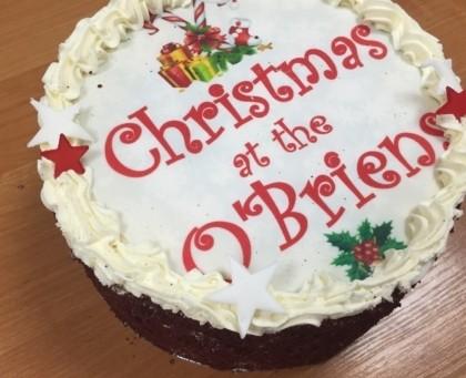 Personalised christmas cake