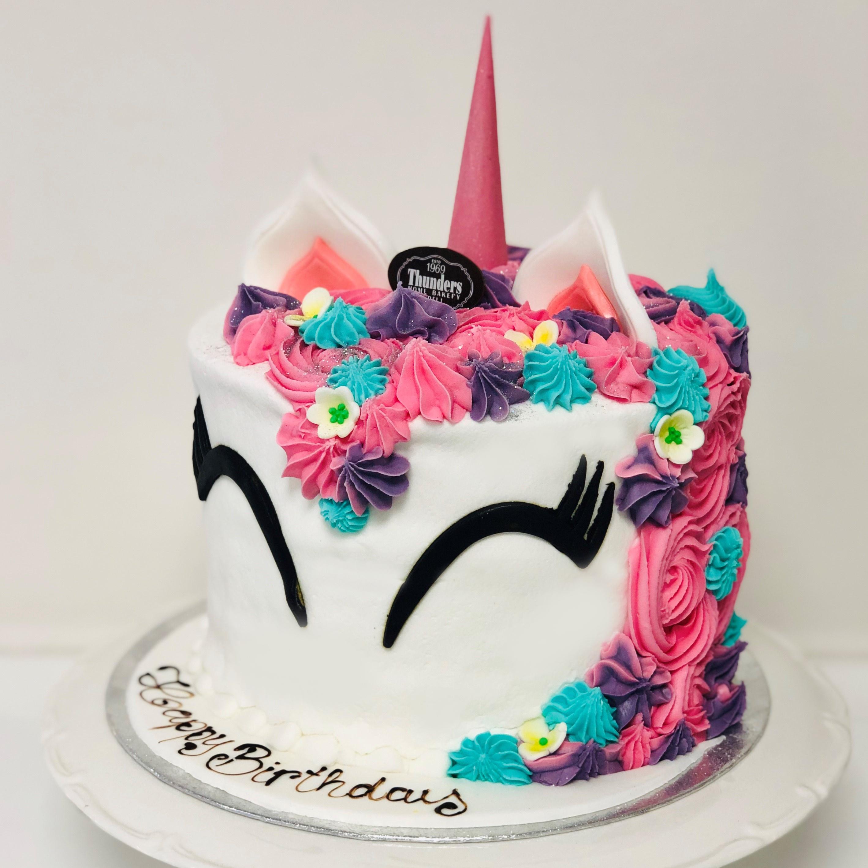 Strange Sky Pink Unicorn Cake Thunders Bakery Funny Birthday Cards Online Alyptdamsfinfo