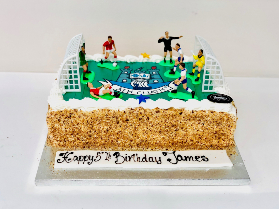 Excellent Soccer Pitch Cake Thunders Bakery Personalised Birthday Cards Petedlily Jamesorg