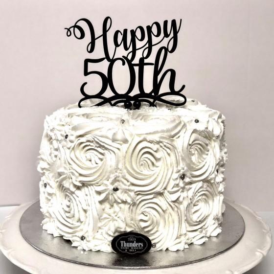 Superb Fabulous Happy 50Th Cake Thunders Bakery Personalised Birthday Cards Veneteletsinfo