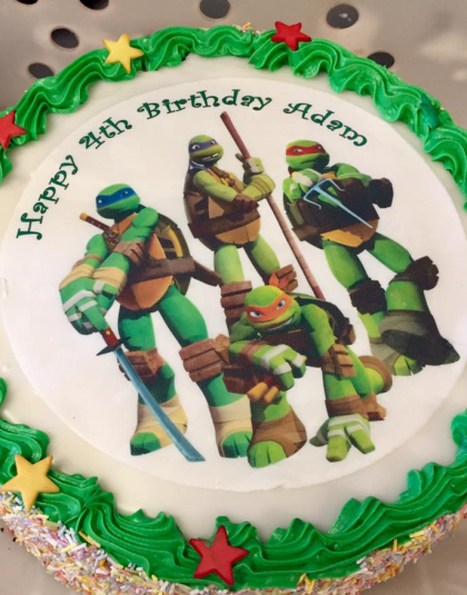Turtles Picture cake