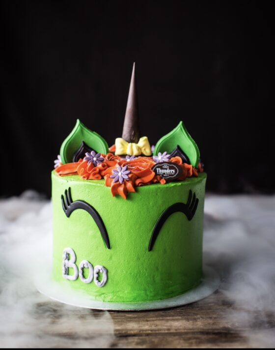 'Boo' Halloween Unicorn Cake