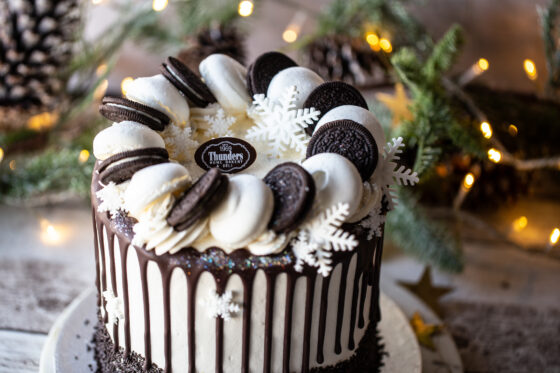 Christmas Oreo 'Drip' Cake