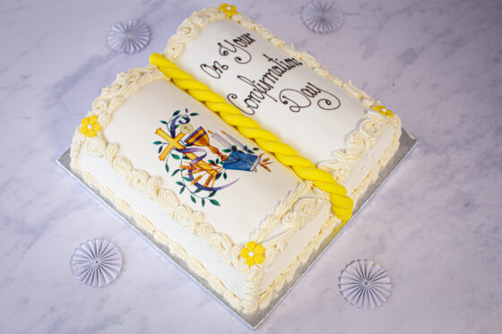 Thunders Confirmation Book Cake