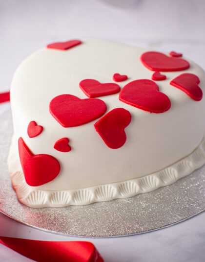 Valentines Red Hot Heart Cake