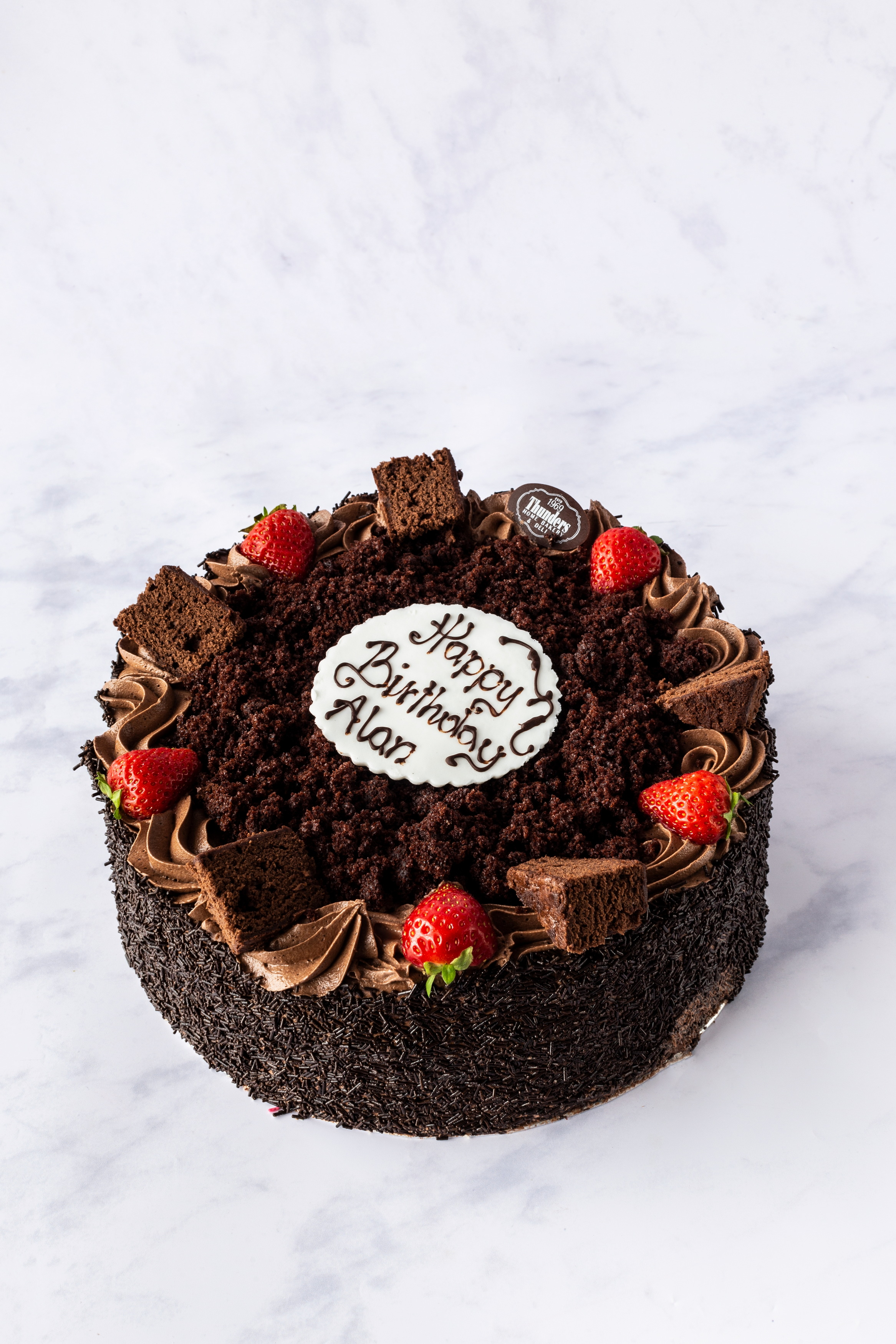 Thunders Chocolate Fudge cake
