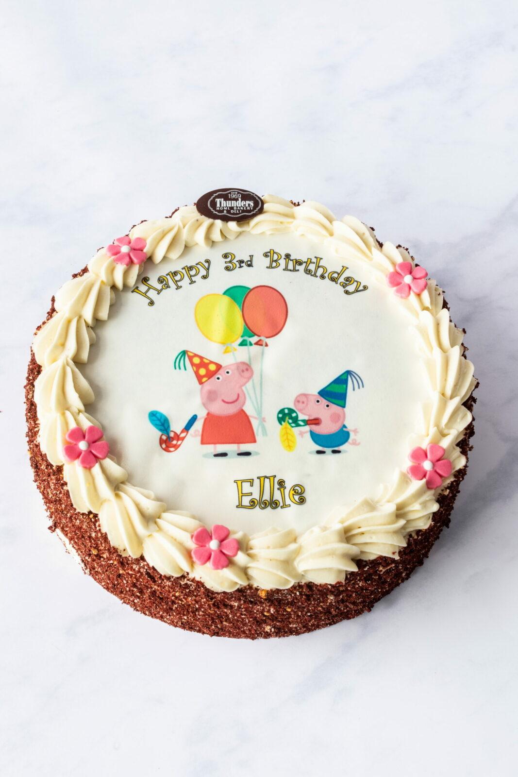 Thunders Red Velvet Picture cake