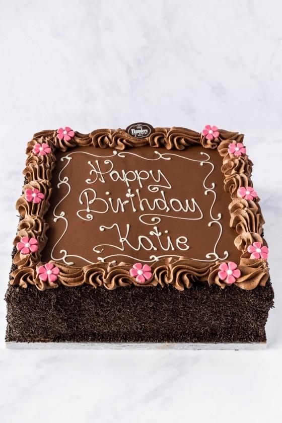 "Thunders 12"" Chocolate Buttercream Cake"