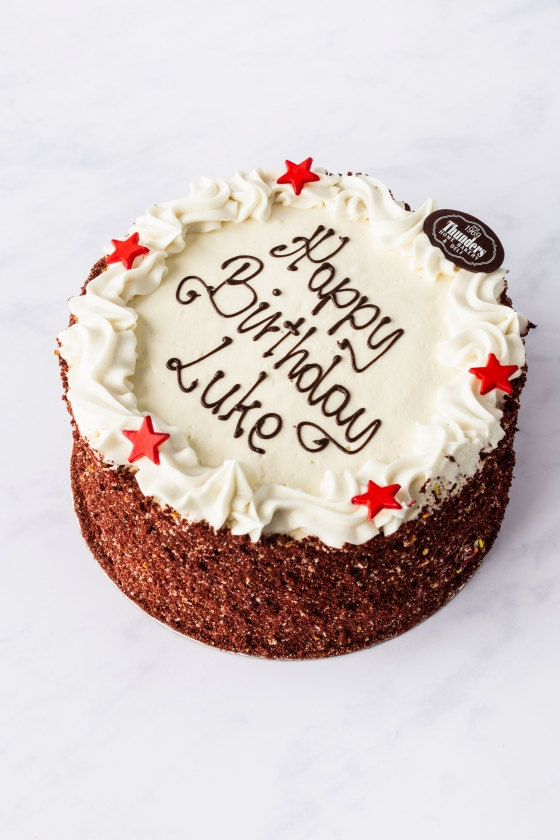 Thunders Red Velvelicious Cake