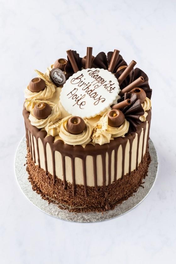 Thunders Novelty Drip Birthday Cake