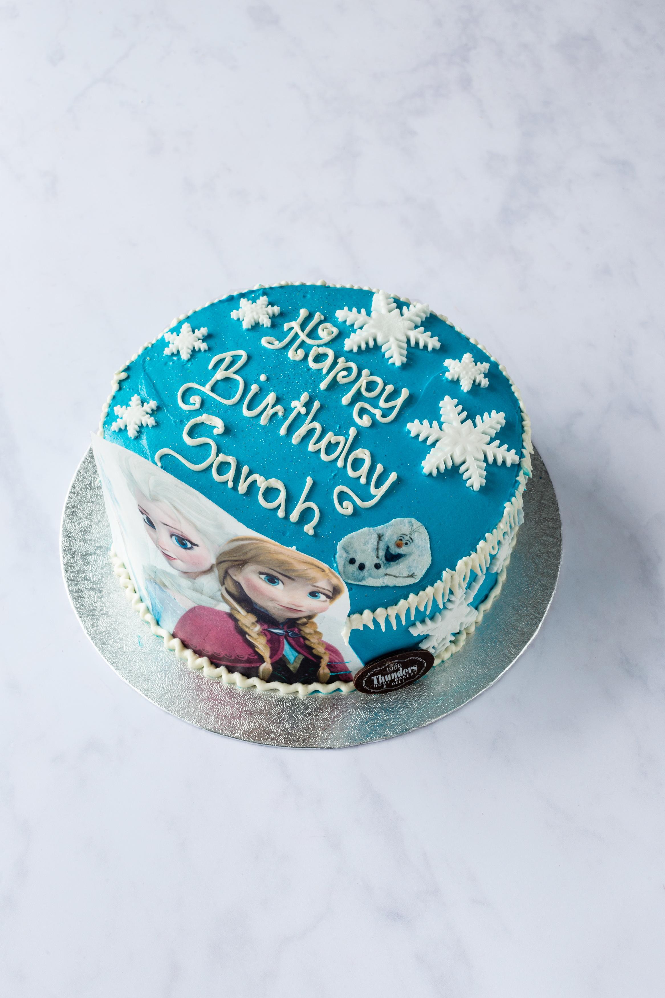 Thunders Novelty Ana Elsa Birthday Cake