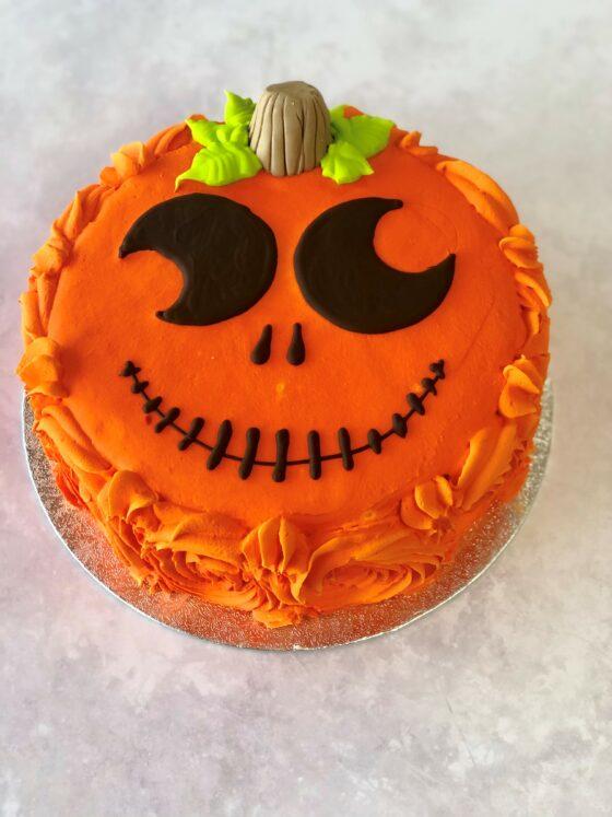 Halloween Pumpkin Head Cake