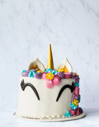 Thunders Unicorn Novelty Birthday Cake