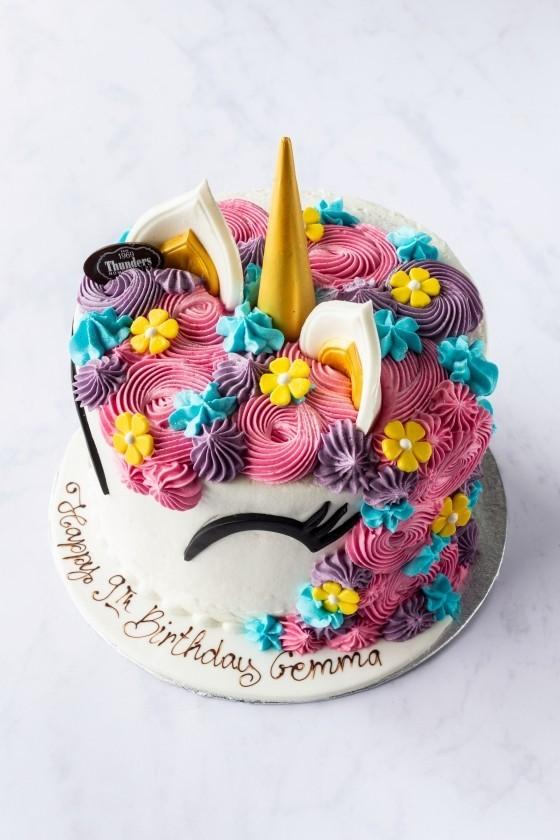 Thunders Unicorn Novelty Birthday Cake