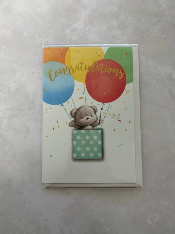 Add a Congratulations card to your purchase