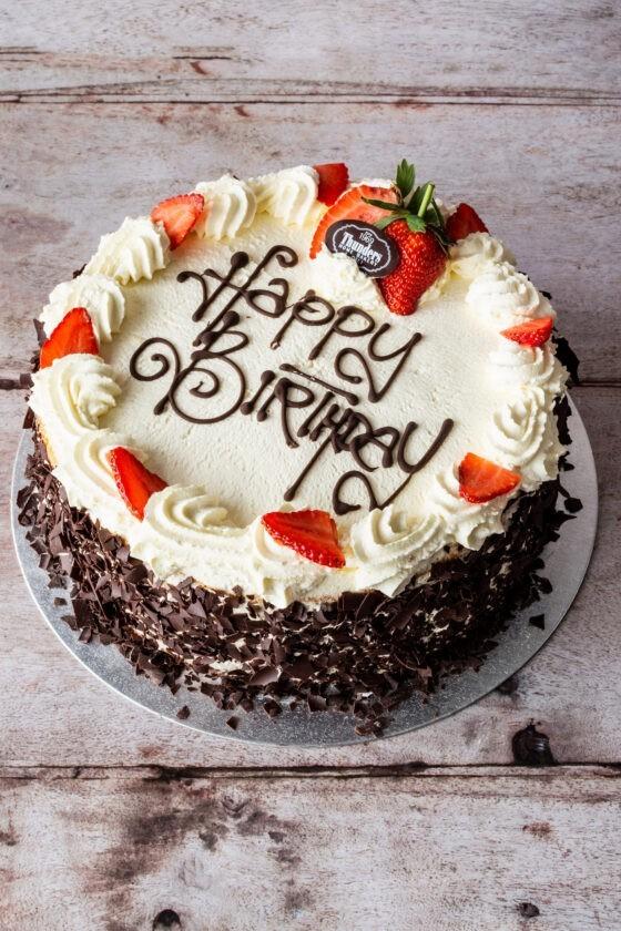 Thunders gluten free strawberry Bliss cake