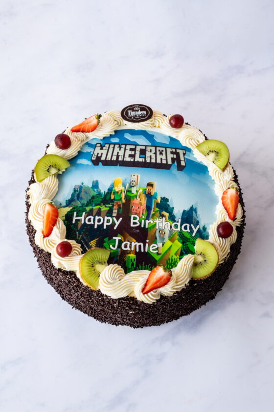 Thunders Fluffy Fruit Picture Cake