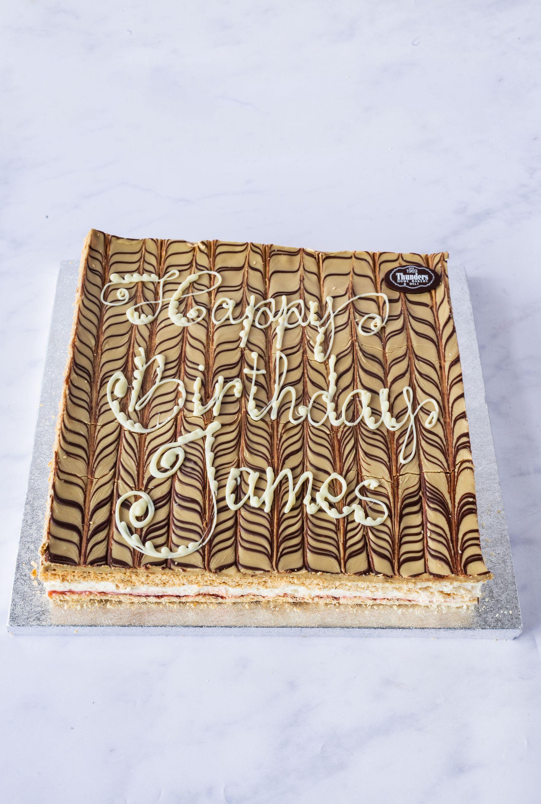 Thunders Coffee Slice Cake