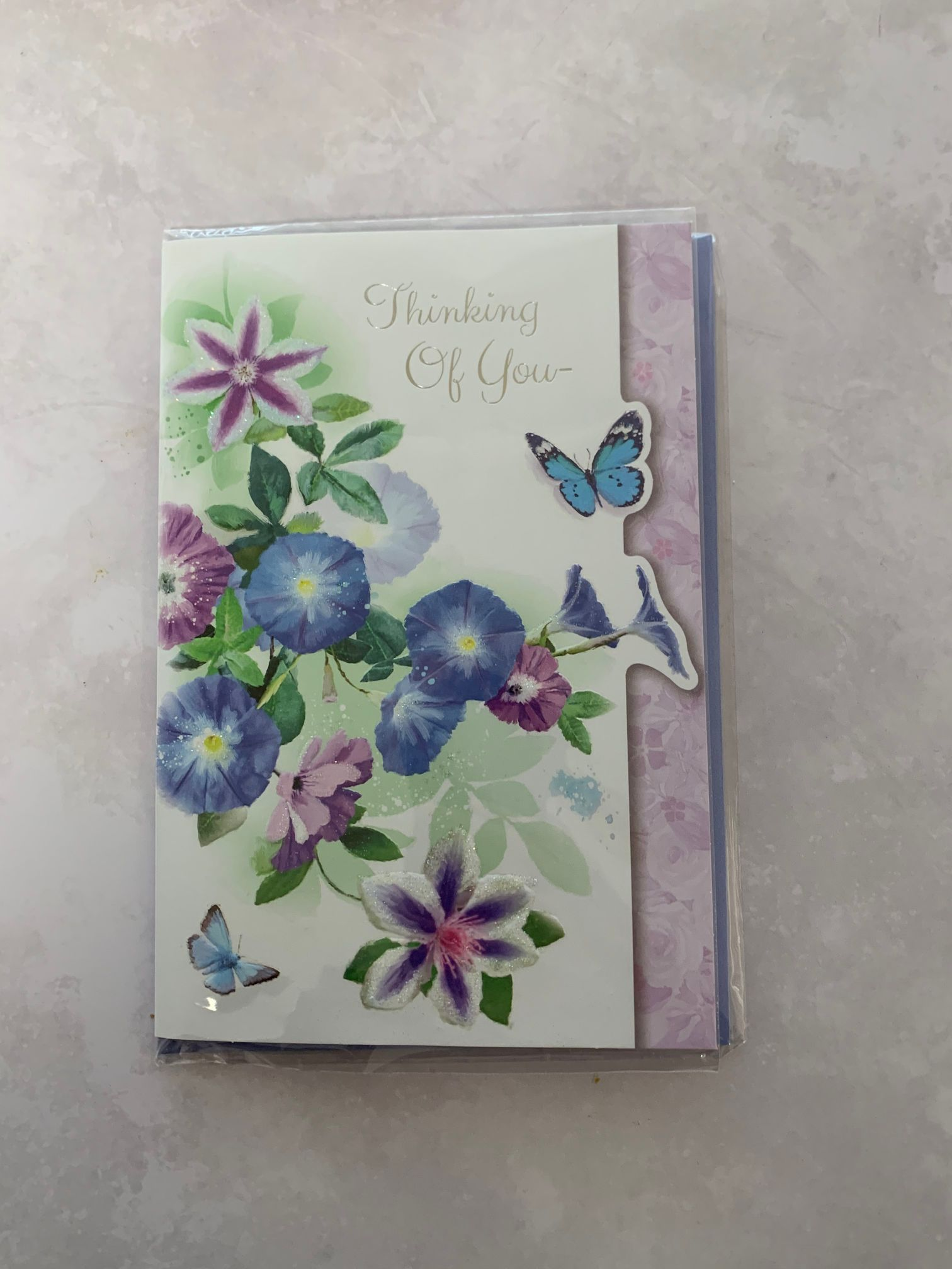 Add a Thinking of you card to your purchase