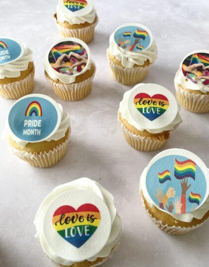 Thunders box of 12 pride cupcakes